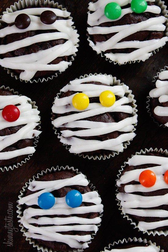 Low Fat Chocolate Mummy Cupcakes Recipe