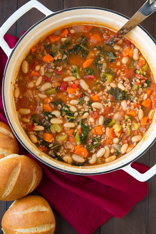 Farro Stew with Kale & Cannellini Beans Recipe