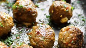 Merguez Meatballs With Mozzarella Recipe