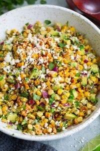 Mexican Street Corn Salad with Avocado Recipe