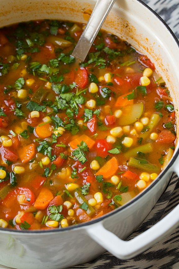 Mexican Vegetable Soup Recipe