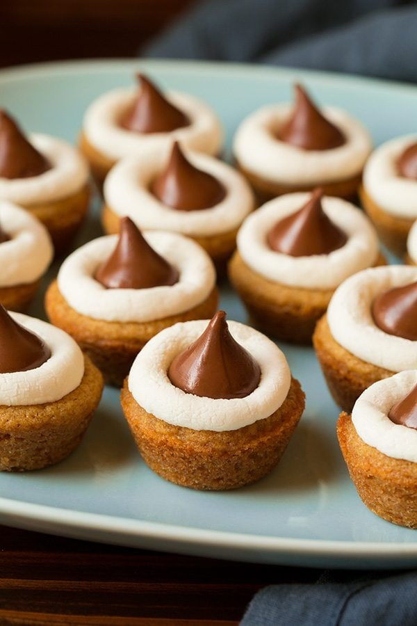 Mini S'mores Cookie Cups Recipe