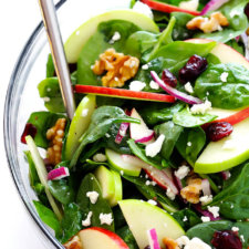 My Favorite Apple Spinach Salad Recipe
