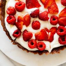Cherry-Amaretto Tart Recipe — Dishmaps