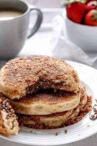 Nutella Stuffed Cinnamon Sugar Donut Pancake Recipe
