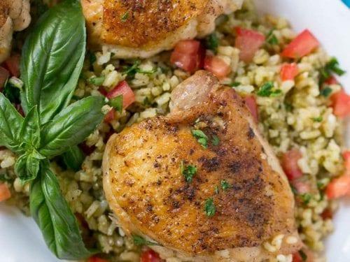 one pot chicken with tomato basil risotto recipe
