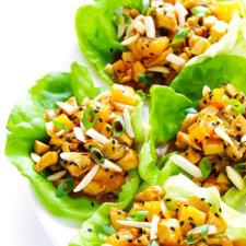 Orange Chicken Lettuce Wraps Recipe