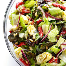 Easy Salad with Red Wine Vinaigrette Recipe