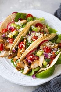 Oven Roasted Chicken Tacos Recipe