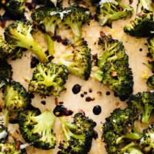 Parmesan Roasted Broccoli with Balsamic Drizzle Recipe