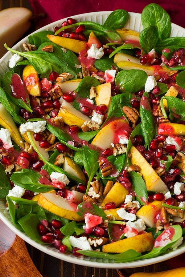 Pear Spinach Salad with Vinaigrette Recipe
