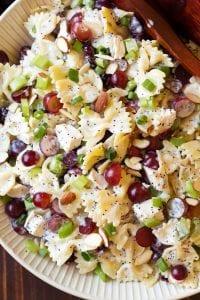 Poppy Seed Chicken and Grape Pasta Salad Recipe