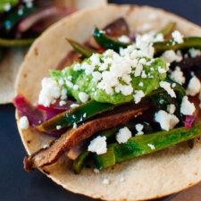 Portobello Mushroom and Poblano Pepper Fajitas Recipe