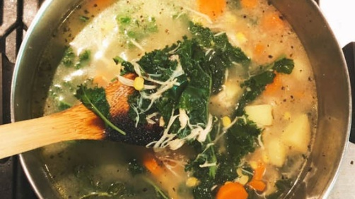Potato, Corn, And Kale Soup Recipe