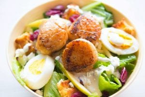 Potato, Egg and Green Bean Salad with a Garlic Infused Lemon Dressing Recipe