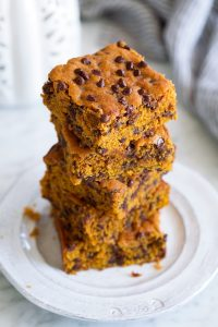 Pumpkin Bars with Chocolate Chips Recipe