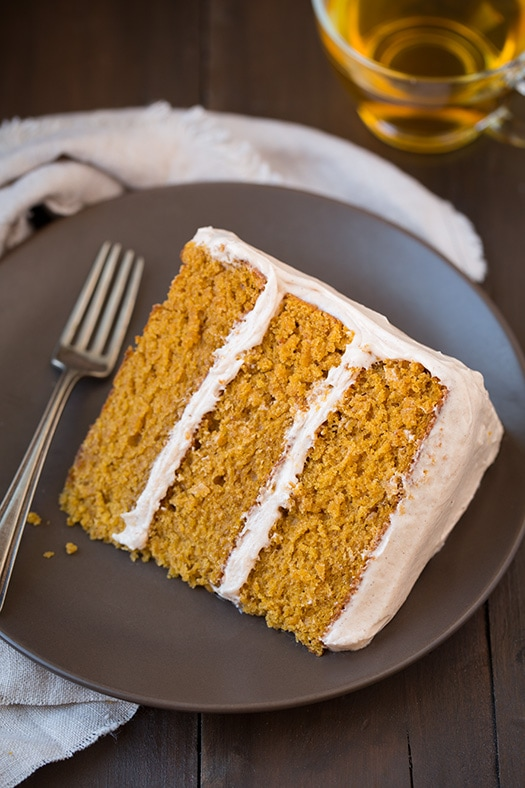 Pumpkin Cake with Cinnamon Cream Cheese Frosting Recipe