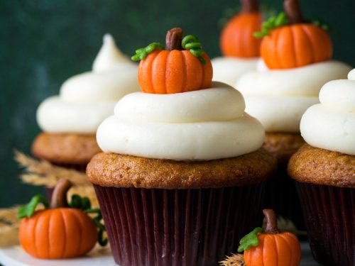 pumpkin cupcakes with cream cheese frosting recipe