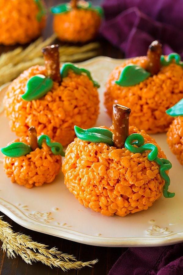 pumpkin rice krispies treats recipe