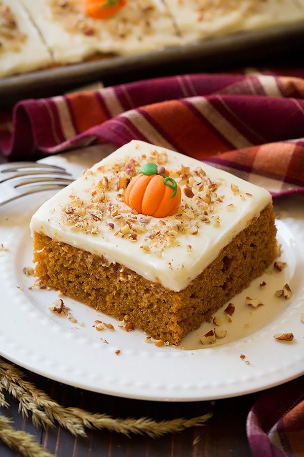 Pumpkin Sheet Cake Cream Cheese Frosting Recipe