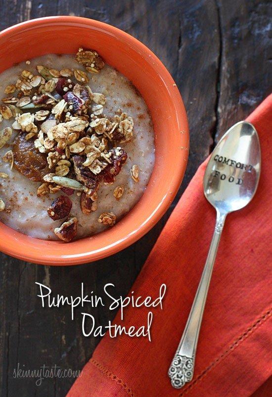 Pumpkin Spiced Oatmeal Recipe