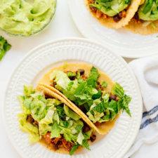 Quinoa Black Bean Tacos with Avocado Sauce Recipe