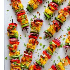 Rainbow Hawaiian Chicken Kabobs Recipe