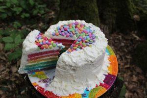 Rainbow Poke Cake With Whipped Cream Recipe