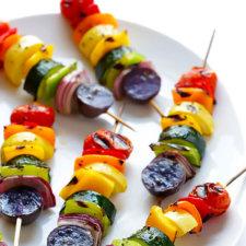 Rainbow Veggie Skewers Recipe