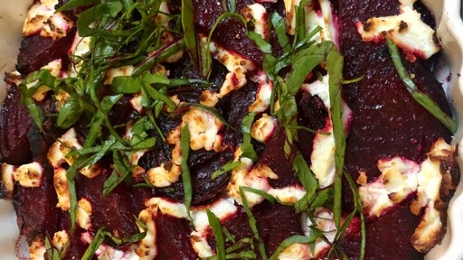 Roasted Beet And Goat Cheese Rose Recipe