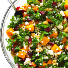 Roasted Butternut Squash, Kale, and Cranberry Couscous Recipe
