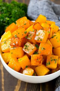 Roasted Butternut Squash with Brown Sugar Recipe