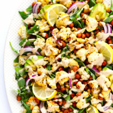Roasted Cauliflower, Chickpea Arugula Salad Recipe