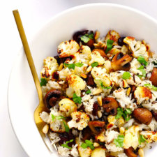 Roasted Cauliflower, Mushroom, and Wild Rice Recipe