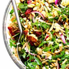 Roasted Cauliflower Orzo Salad Recipe