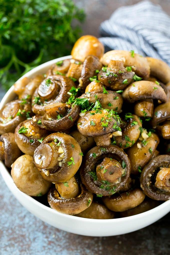 Roasted Mushrooms in Garlic Butter Recipe