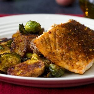Salmon And Veggie Sheet-Pan Dinner Recipe