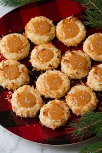 Salted Caramel Coconut Thumbprint Cookies Recipe