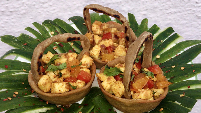 Sauteed Cottage Cheese In Baked Baskets Recipe