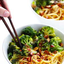 Sesame Noodles with Broccoli and Almonds Recipe