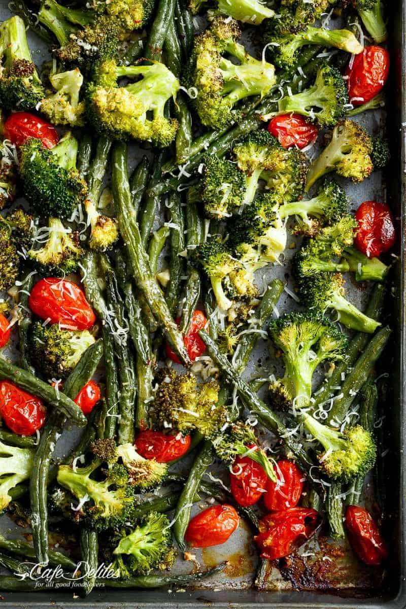 Sheet Pan Garlic Parmesan Roasted Broccoli Recipe