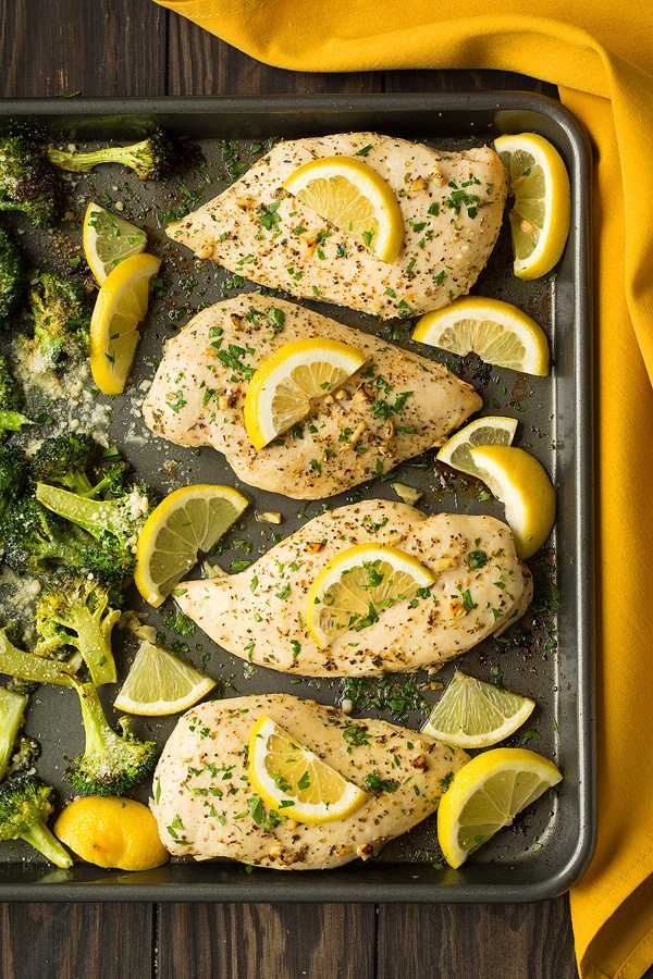 Lemon Chicken with Roasted Broccoli Recipe