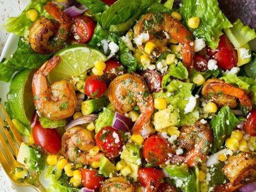 shrimp and avocado taco salad recipe