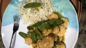 Shrimp And Scallops With Snow Peas Butter Sauce Recipe