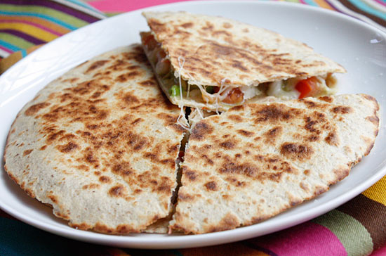 Shrimp Quesadillas with Tomato Avocado Salsa Recipe
