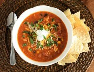Slow Cooker Chicken Enchilada Soup Recipe