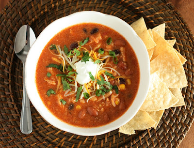 Slow Cooker Chicken Enchilada Soup Recipe