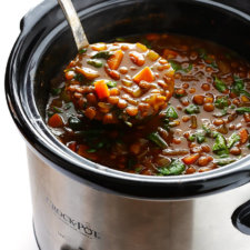 Slow Cooker Curried Lentil Soup Recipe
