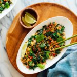 spicy kale and coconut fried rice recipe