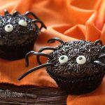 spooky spider halloween cupcakes recipe